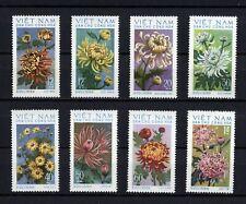 1974 North Vietnam Stamps Chrysanthemums Flowers Sc # 731 - 38 MNH