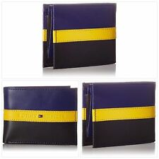 Genuine Tommy Hilfiger RFID Blocking 100% Leather Passcase Wallet