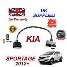 For KIA Sportage iPhone 3 3gs 4 4S iPod USB & 3.5mm Aux Audio Cable MY 2012+