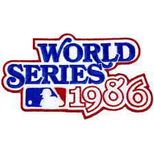 1986 World Series Logo Jersey Sleeve Patch New York Mets Boston Red Sox MLB