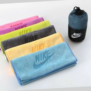 "Nike Fundamental Tennis gym Towel Swoosh 35"" x 75""cm 100% Cotton Sports Training"