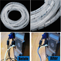 Spiral Wire Wrap Tube Management Cord Protector Storage Pipe Cable Organizer