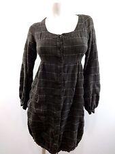SICAL DEKEL ISRAEL DESIGNER WOMENS PLAID BUTTON FRONT CASUAL POUF DRESS SIZE XS