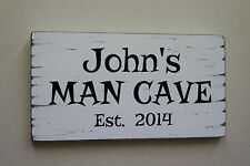 Man Cave Hand Painted Decorative Plaques & Signs