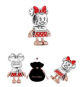New Authentic Pandora Rose Disney  Minnie Mouse Robot Charm S925 ALE