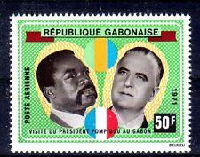 POMPIDOU Gabon 1 val de  de 1972 ** NEUF PORT OFFERT