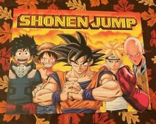Shonen Jump Dragon Ball Z Goku Naruto One Punch Man Poster Litho NYCC Exclusive