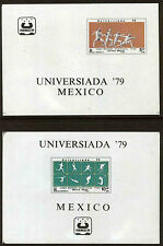 MEXICO 1189, C614 UNIVERSITY GAMES SET OF 2 SOUVENIR SHEETS, MNH, VF.