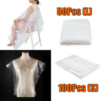 Lot De 150 Jetable Coupe De Cheveux Cape Robes Unisexe Coupe De Cheveux