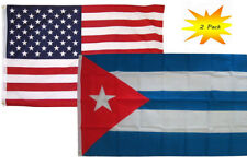 3x5 3'x5' Wholesale Set (2 Pack) USA American & Cuba Cuban Country Flag Banner