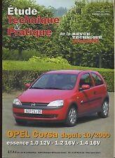 Revue technique OPEL CORSA essence 1.0 12v 1.2 16v 1.4 16v RTA ETP643.10.2001