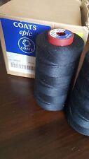 Thread Coats Epic/Astra 120, Lot of 5 Large Cones 5000m, Tex 024 / 027 Col:Y0092