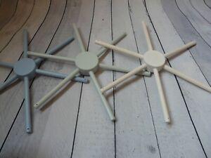 6 dowels mobile Wooden mobile white hanger nursery decor mobile crib base DIY