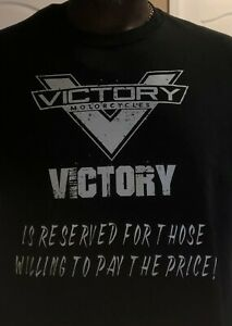 "Victory Motorcycle T-Shirt ""VICTORY IS RESERVEDl"""