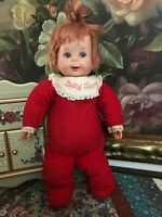 Mattel Baby Secret Doll WORKS 100% Whispers Talks Pull String SCARY Vintage 1965