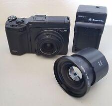 Ricoh GXR S10 24-72mm lens +HA-3 & DW-6 Converter Camera Bundle *VERY GOOD*