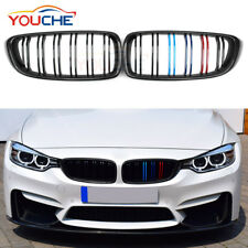 Carbon M Sport Strips Front Kidney Grille Grill for BMW 4 Series F32 F33 F36 F82