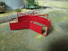 1/64 Custom Scratch-Cast Cattle Corral Sweep Tub - Red