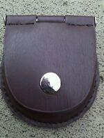 Pocket Watch Leather Case Pouch Storage Holder Brown Box Bag Belt Attachment New