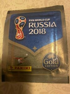 30 Panini 2018 Russia World Cup Sticker Packets Packs SWISS GOLD EDITION VERSION