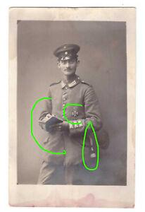 Top Foto AK Portrait --Offizier-- mit EK 1 und Tagebuch
