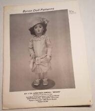 "Byron Doll Patterns By-118 Long Face Jumeau ""Megan"" Fits 16"" Dolls Head to Toe"