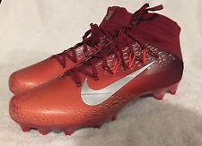 Nike Football Cleats 824470-608 Red Gray  Sz 14