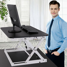 Adjustable Height Sit Stand Desk Standing Desk Top Desk Riser Black and White