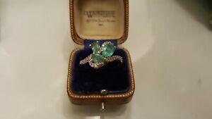 9ct Gold Zambian Emerald Ring
