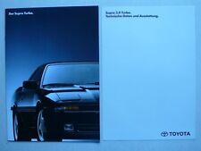 Prospekt Toyota Supra Turbo, 11.1990, 16 Seiten + technische Daten/Ausstattung