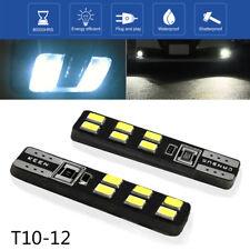 2x 12V 6000K 3030 12 SMD T10 LED Bulb 194 168 W5W Universal Car Side Wedge Light