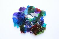 Colorful Safety/Tempered Clear Broken Glass Mosaic Tiles Crafts Pieces Material