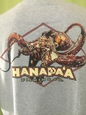 Hanapa'a Fishing Co. Octopus Men's Gray T Shirt Size Xl Made in Hawaii
