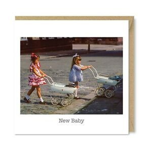 Unique Vintage Retro Greetings Card - New Mums, Cute Nostalgia New Baby Gift