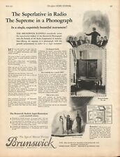 Brunswick Radio - Alabastine Wall Coating - 1925 - Vintage Magazine Advertisemen