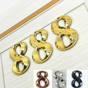 Modern Style House Digit Number Design Door Label Plate Signage Acrylic Material