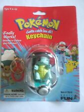 Pokémon #7 Squirtle Poke Ball Keychain Factory Sealed Action Figure Toy Go Ash