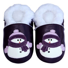 Free Shipping Littleoneshoes Soft Sole Leather Baby Infant Snowman Shoes 0-6M