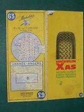 Carte MICHELIN n° 63 Vannes - Angers 1970