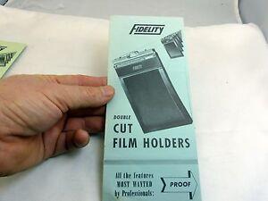 Fidelity Cut Film Holders Brochure (EN) English 5X7 4X5 blue