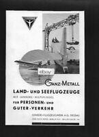 JUNKERS FLUGZEUGWERK LUFTHANSA GERMAN AIRLINES JUNKERS JU-52 ON FLOATS 1932 AD