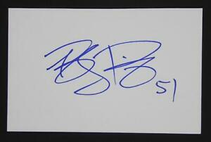 Brady Poppinga Signed Autographed 4x6 Index Card Green Bay Packers