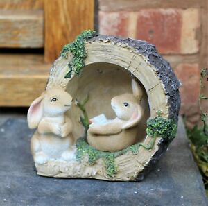 Garden Ornament Solar Powered Decorative Animal Rabbit Bunny Light Up