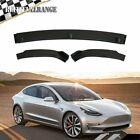 Sedan Carbon Fiber Front Bumper Lip Spoile For 2016 2017 2018 2019 Tesla Model 3