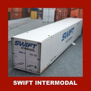 Swift Intermodal Model Shipping Containers Card Kits HO 53ft x 3