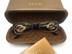 GUCCI TURTOISE PRESCRIPTION GLASSES WITH CASE