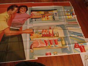 1955 Rainlap Billboard Advertisement Poster Gibson Appliance Refrigerator