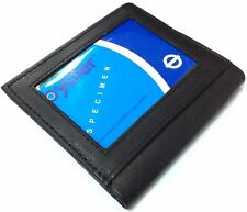 Mens Luxury Soft Quality Real Leather Black Wallet Credit Card Holder Purse