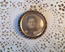 Antique 10K Mourning Brooch Picture Pin Rose Gold 6.2 Gram Tests 10K