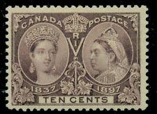 CANADA #57 10¢ brown violet, og, NH, light gum wrinkle, VF, Scott $300.00